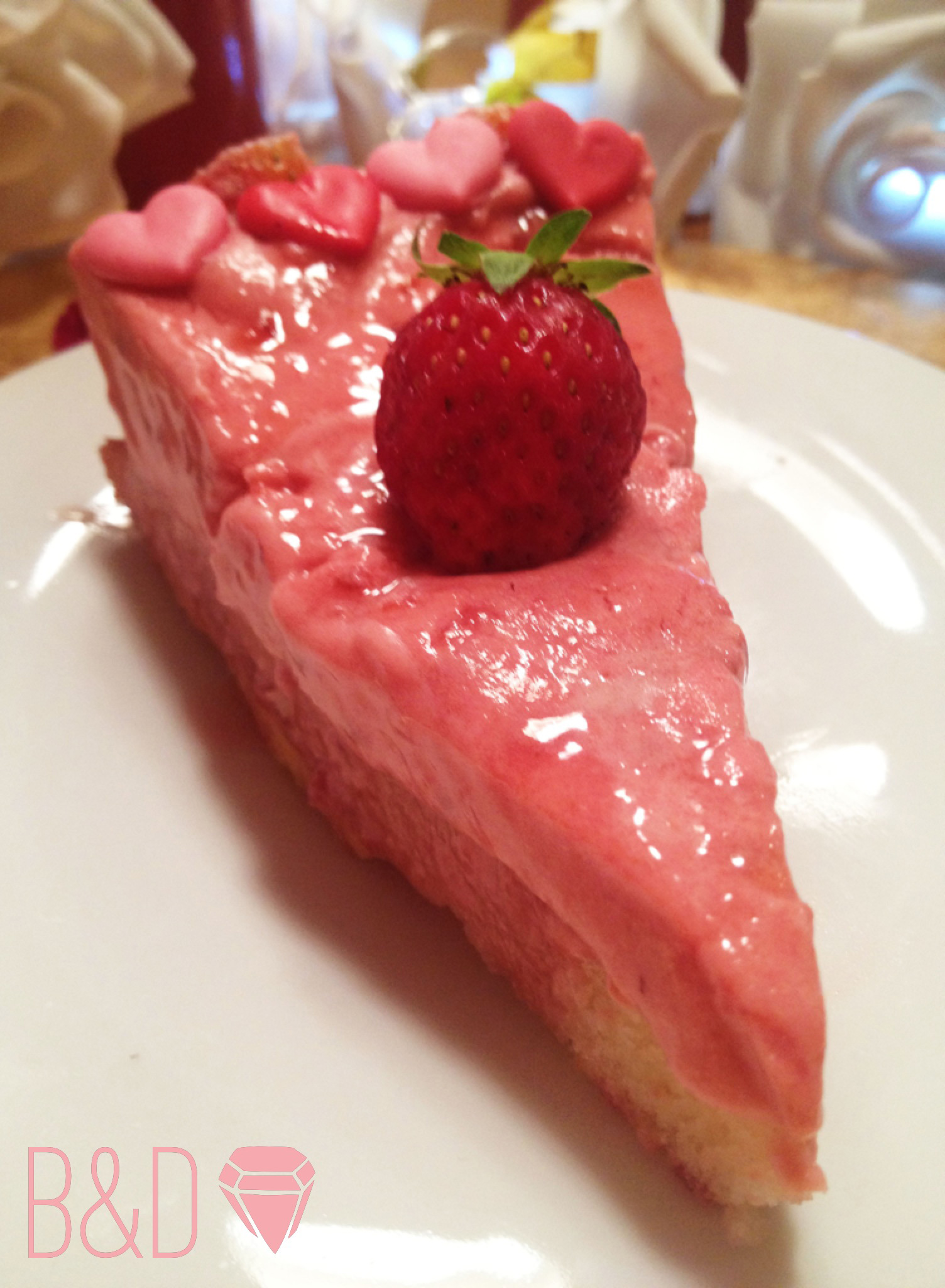Strawberry Yogurt Mousse Cake | B&D- Baking and Design
