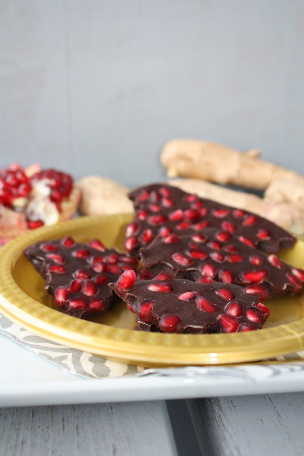Chocolate-Pomegranate-Ginger Bark
