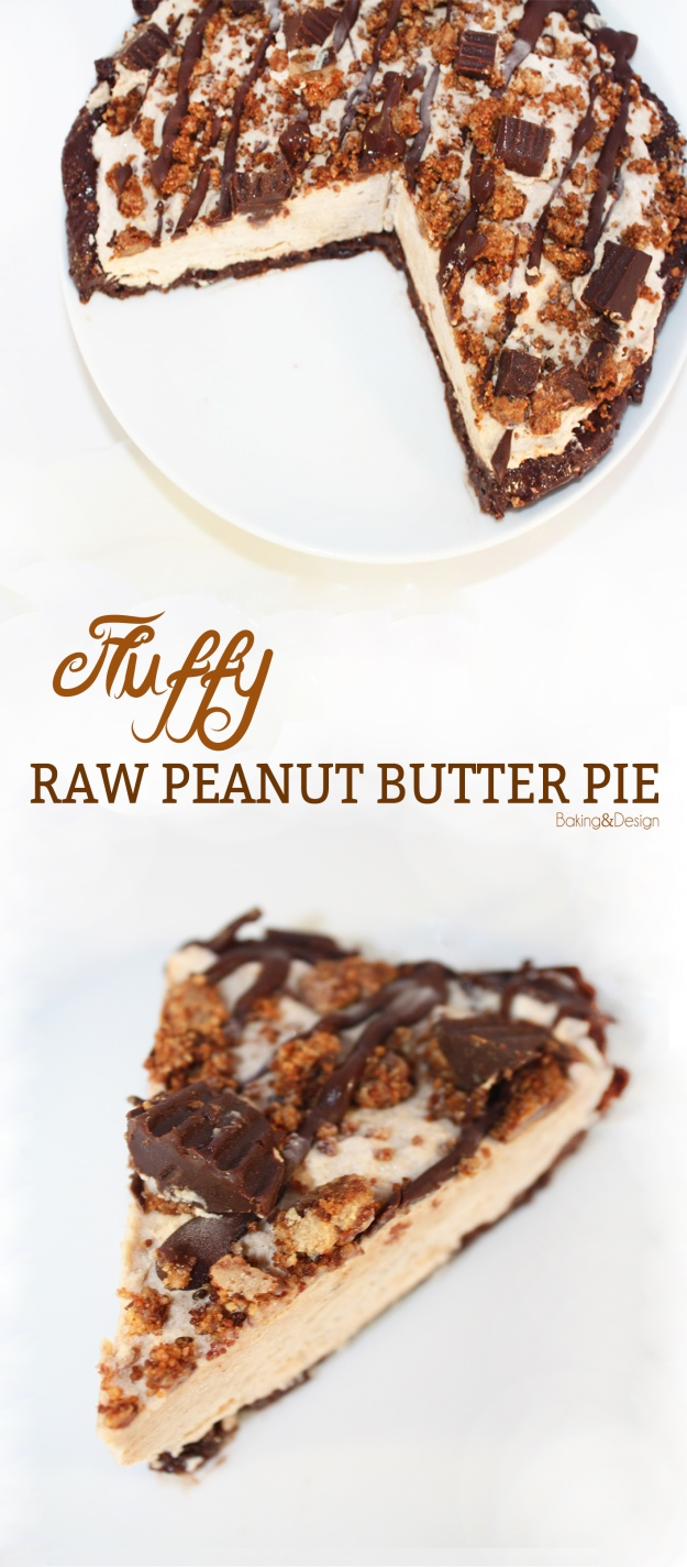 Raw Peanut Butter Pie - You never tasted something fluffier like this! No bananas, no greek yogurt, no soy!